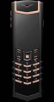 Vertu Signature Black Red Gold Mixed Metals